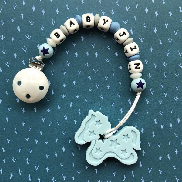 Personalized Pony Teether (Blue)