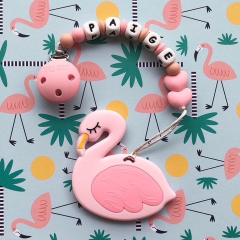 Personalized Flamingo Teether