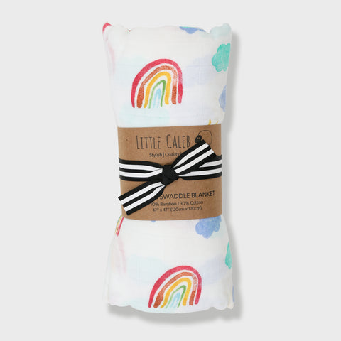 Rainbow Sky Muslin Swaddle