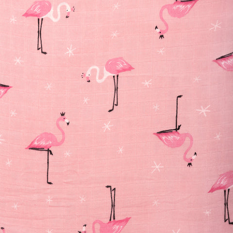 Flamingo Muslin Swaddle