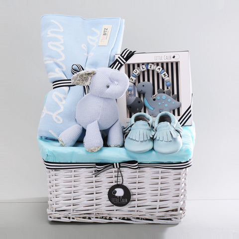 Deluxe Personalized Blanket & Teether Hamper - Sky (Original Value HK$1,588)