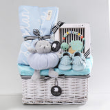 Premium Personalized Blanket & Teether Hamper - Sky