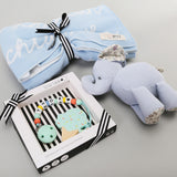 Premium Personalized Blanket & Teether Hamper - Sky(25-30 days)