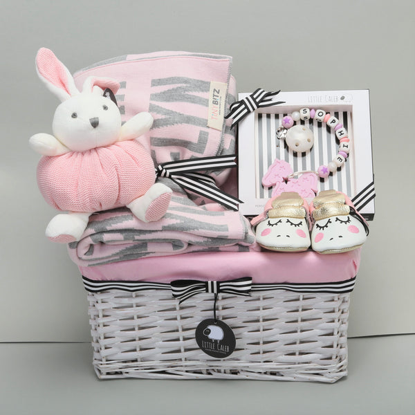 Deluxe Personalized Blanket & Teether Hamper - Blossom (Original Value HK$1,588)