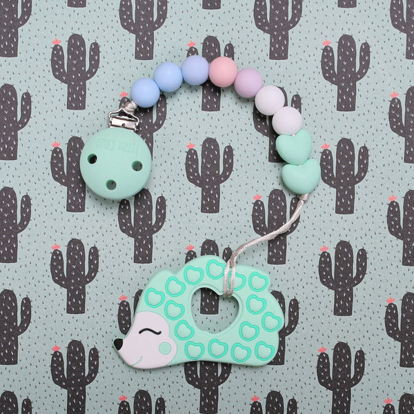 Hedgehog Teether (Mint)