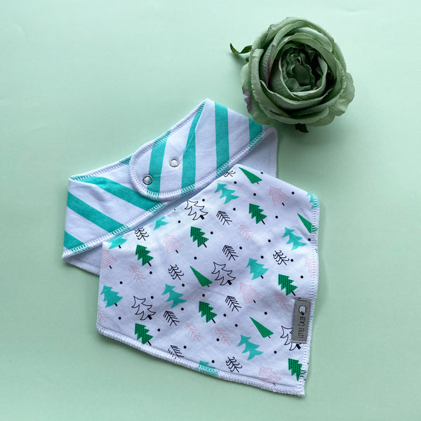 Tree Pattern & Stripe Bib Set