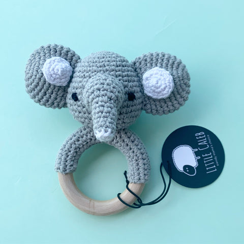 Crochet Rattle - Elephant