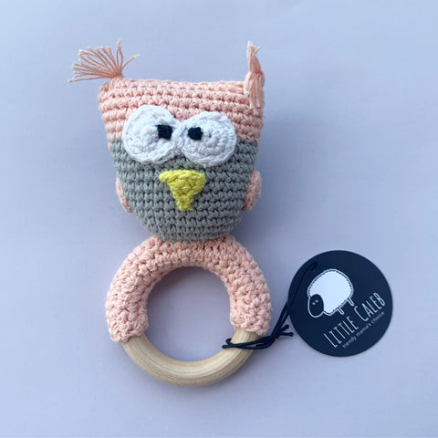 CROCHET RATTLE - OWL