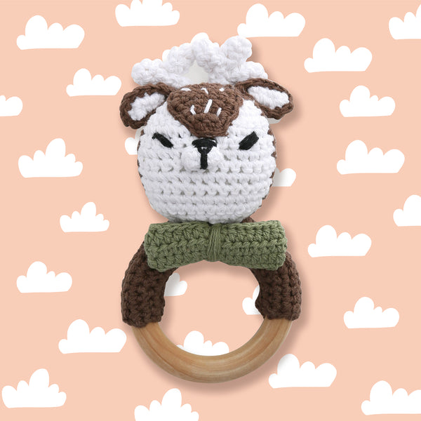 CROCHET RATTLE - DEER