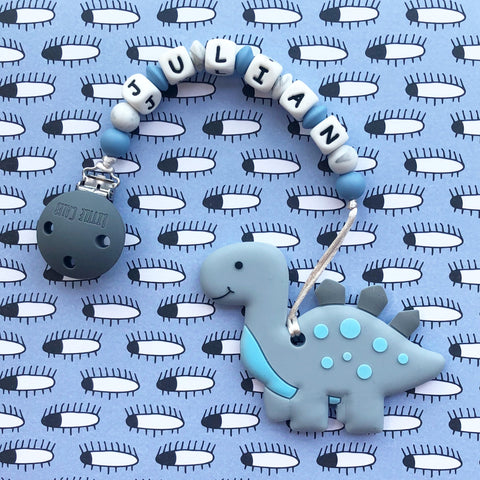 Personalized Cute Dinosaur Teether(GREY)