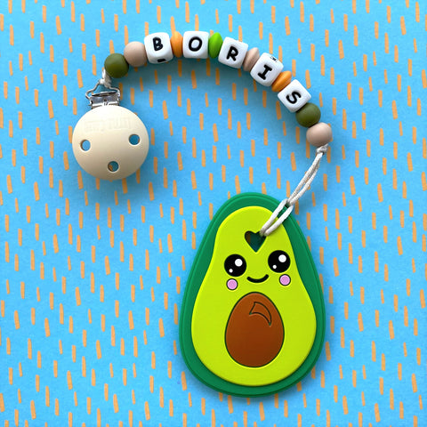 PERSONALIZED AVOCADO TEETHER