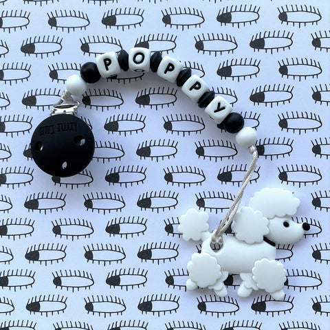 PERSONALIZED POODLE TEETHER