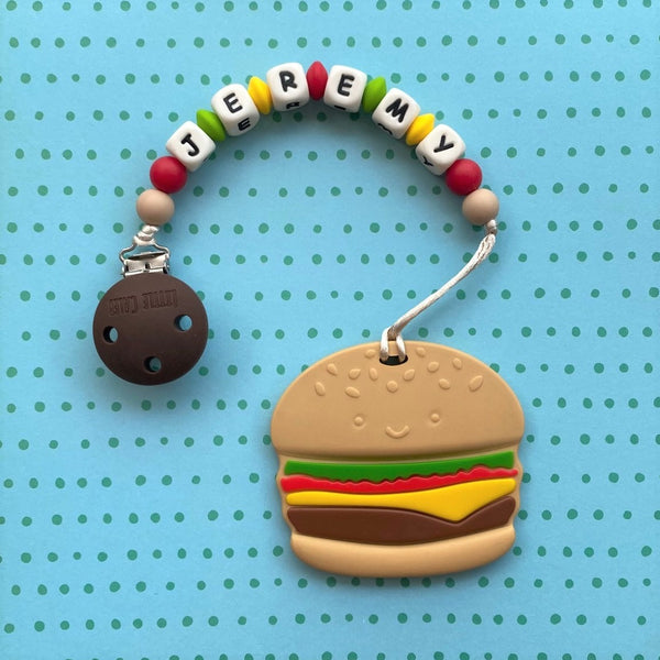 Personalized Hamburger Teether
