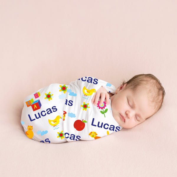 Personalized Swaddle -            Fun Toys(14-18 days)