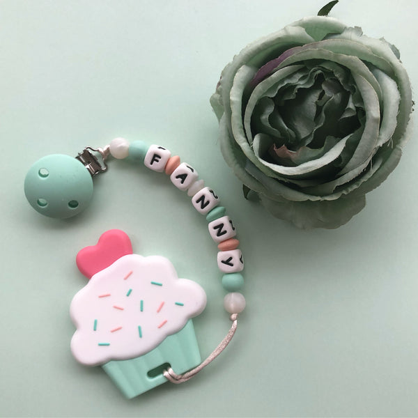 Personalized Cupcake Teether