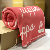 Personalized Blanket (Bright Pink Background)