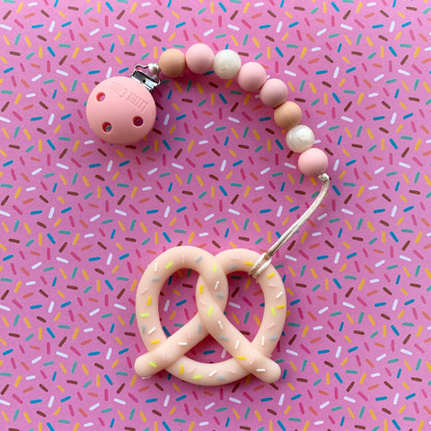 PRETZEL TEETHER(PINK)
