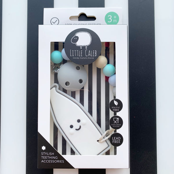 Milk Bottle Teether (Grey)