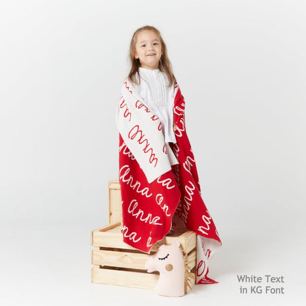 Personalized Blanket (Red Background)25-30 days