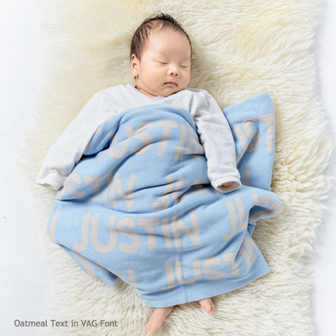 Personalized Blanket (Light Blue Background)25-30 days