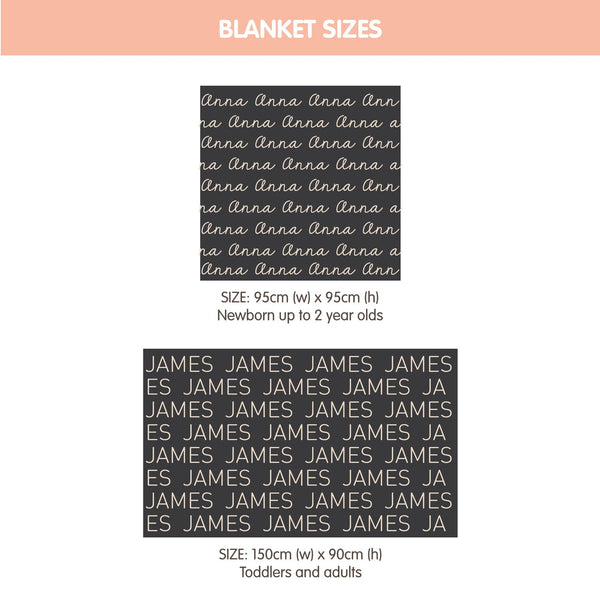 Personalized Blanket (Light Pink Background)