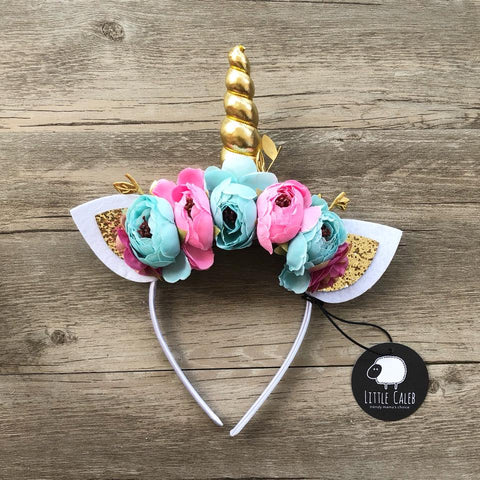 Baby Unicorn Headband (Tropical)