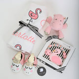 Personalized Swaddle & Teether Hamper - Blossom(14 - 18 days)