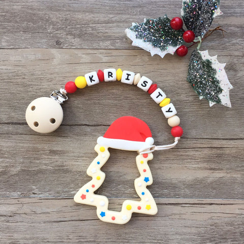 Personalized Christmas Tree Teether (White - Limited Edition)