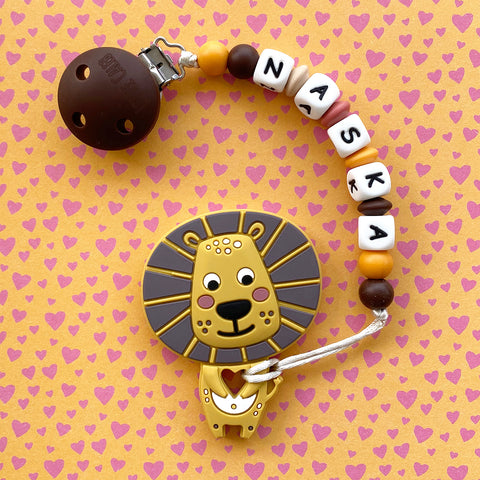 Personalized Lion Teether