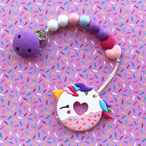 UNICORN DONUT TEETHER(PINK)