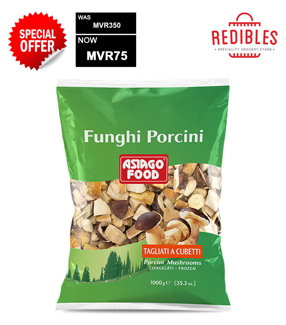 SPECIAL OFFER: Frozen Wild Porcini Mushrooms Cubes 1 kg