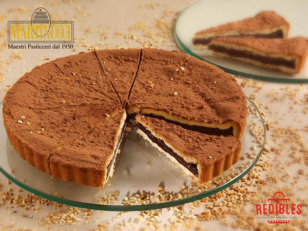 Torta Del Nonno - Chocolate Cream with Hazelnuts Sprinkled