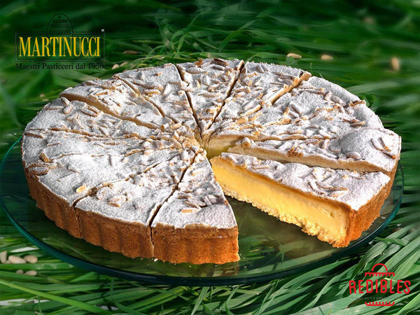 Torta Della Nonna - Custard with Almond & Pine Nuts