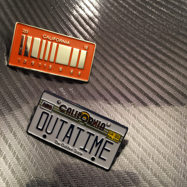 *Seconds* Delorean License Plate Set