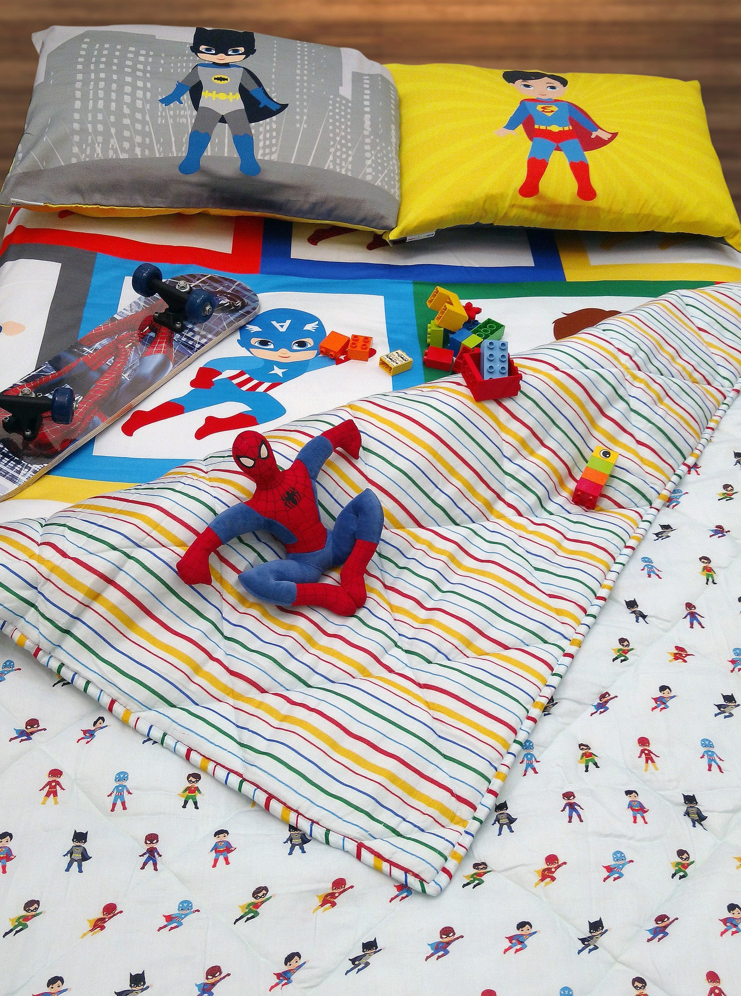 Super Heroes Bed Sheet Super Heroes Bed Sheet