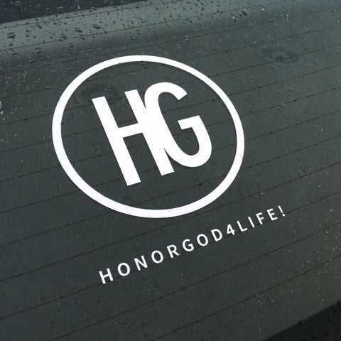 HG White Auto Decal