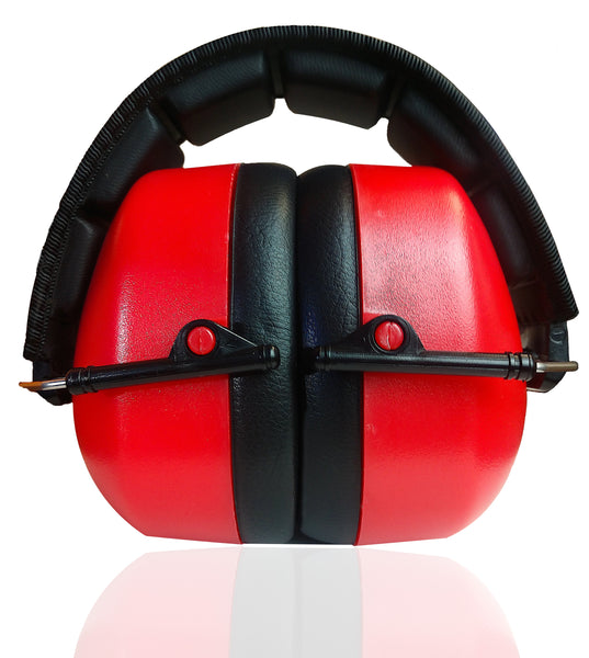 DECIBEL DEFENSE SAFETY EAR MUFF (SAFETY RED)