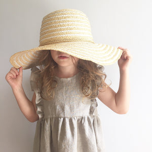 Natural Linen Ruffle Dress