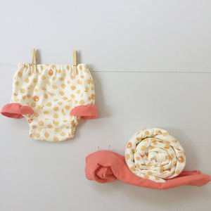 Double Gauze Diaper Cover - Snails