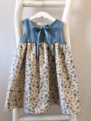 Blue Floral Sundress - sizes 3T and 5T - ready to ship