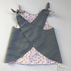 Reversible Pinafore - one size - newborn to 3 years - ready to ship