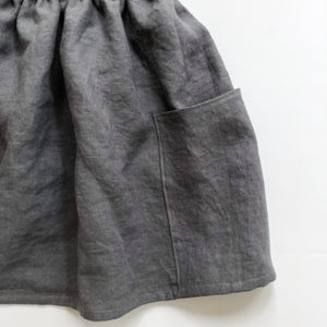 Girls Linen Pocket Skirt