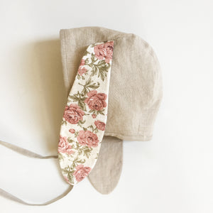 Bunny Ears Bonnet - Dusty Rose Floral