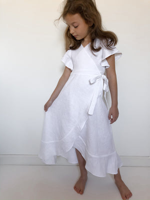 Girls Maxi Wrap Dress