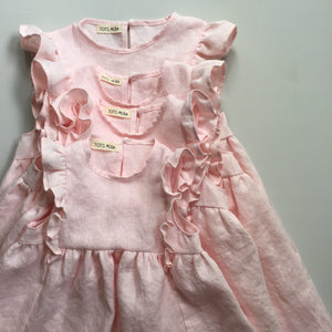 Pale Pink Ruffle Dress - 2T - ready to ship