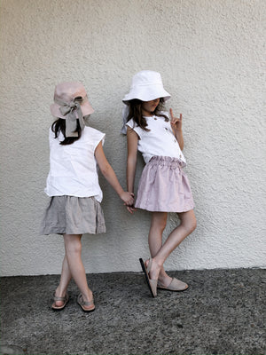Girls Linen Paper Bag Skirt