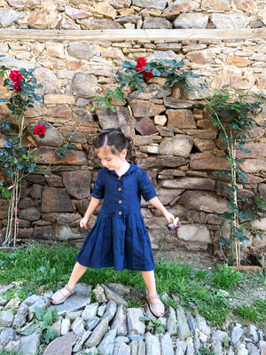 Girls Linen Shirt Dress