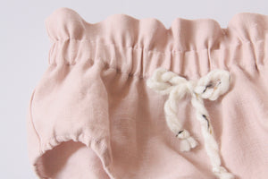 Dusty Rose High Waist Linen Bloomers