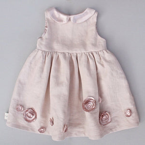 Dusty Rose Linen Dress