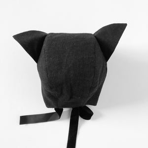 Black Cat Ears Bonnet